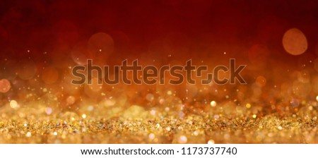 Christmas and New Year holidays background, glitter vintage lights background. defocused. #1173737740