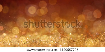 Christmas and New Year holidays background, glitter vintage lights background. defocused. #1190557726