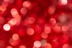 Christmas and New Year red blurred defocused bokeh background
