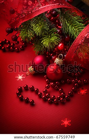 Christmas and New Year's Greeting Card design