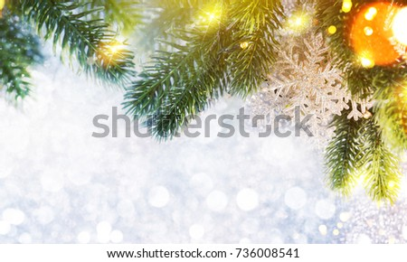 Christmas and New Year s holiday background with copy space #736008541