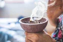 Christmas and New Year's Ritual: Traditional esoteric incense, smoke