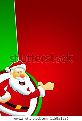 Christmas and santa claus sale business poster background with space