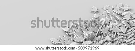 Christmas and winter theme, original 3d rendering. Horizontal size with copy space. #509971969
