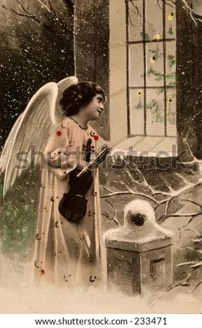 christmas angel   a 1906 hand...