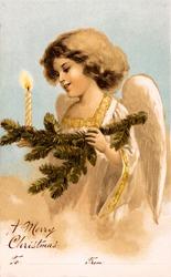 Christmas angel - a 1910 vintage greeting illustration