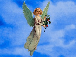 Christmas angel - a 1910 vintage illustration