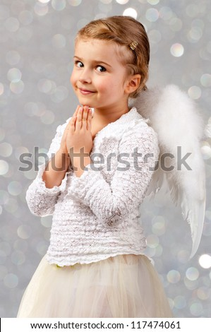 Christmas Angel - lovely little praying  girl
