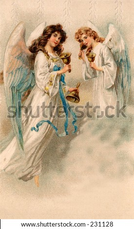 Christmas angels - a 1912 vintage illustration