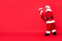 Christmas are coming! Real Santa Claus is getting ready for the season.