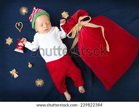 Christmas baby gift santa make wish