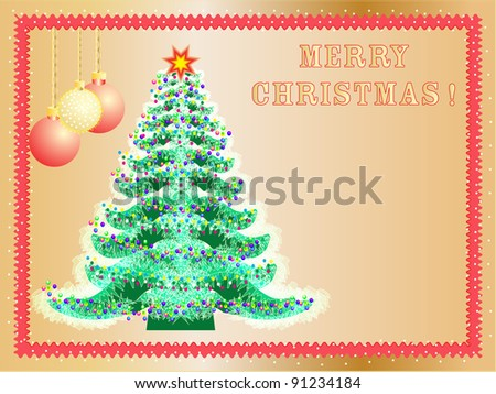 Christmas background  celebratory Christmas tree #91234184