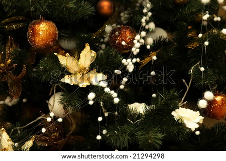 Christmas Background, Christmas-tree decorations