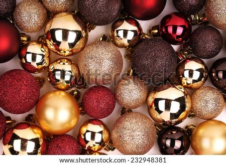 Stock Photo Christmas Background. Colorful Balls