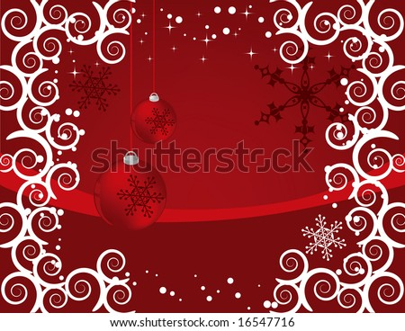 Christmas background designed in Illustrator vector format.  Can be scaled to any sized without lost of quality.
