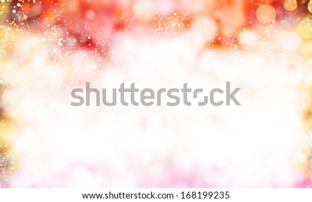 Christmas Background.Holiday Abstract. Blurred Bokeh