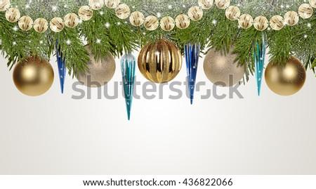 Christmas background. New Year decoration.