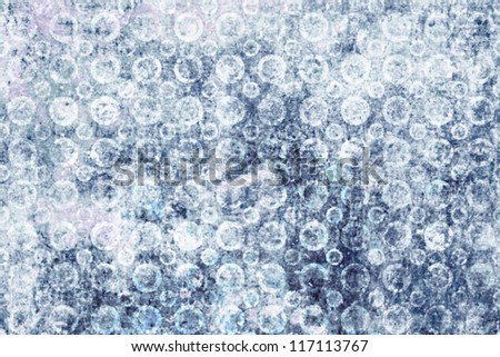 Christmas background of falling snowflakes or abstract spherical white shapes