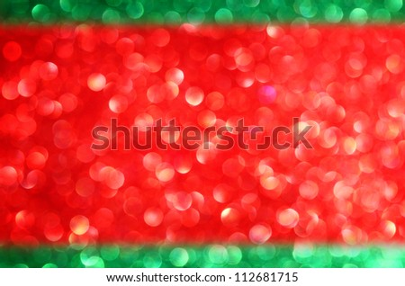 Christmas background of red and green defocused lights