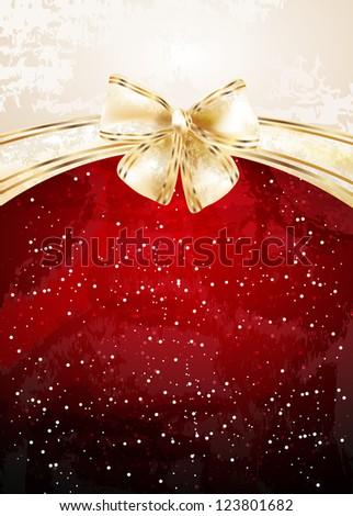 Christmas background. Raster version of vector illustration
