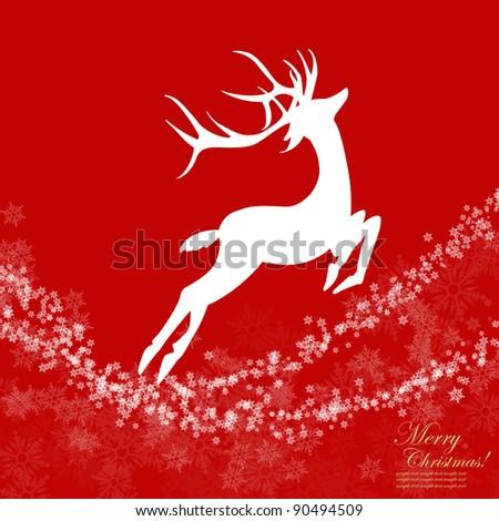 Christmas background ,Reindeer