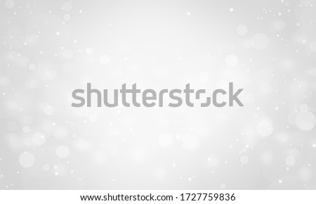 christmas background white snow. white silver blur bright glitter