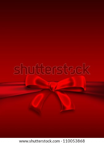 Christmas background with a bow - stock photo