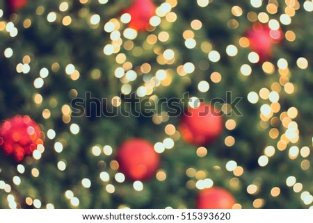 christmas background with abstract bokeh light stock photo