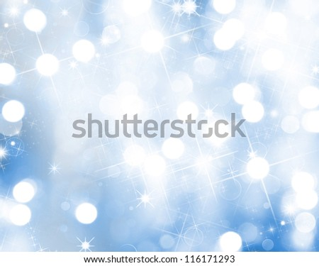 Christmas background with blur lights