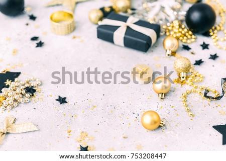 Christmas background with copy space Zdjęcia stock ©