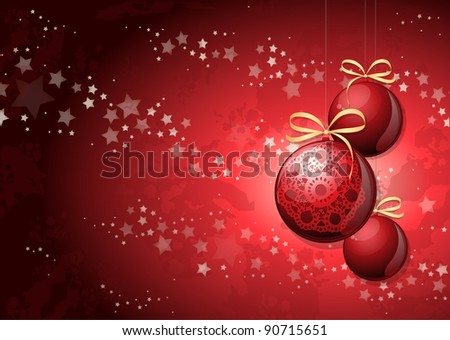 Christmas background with decorations #90715651