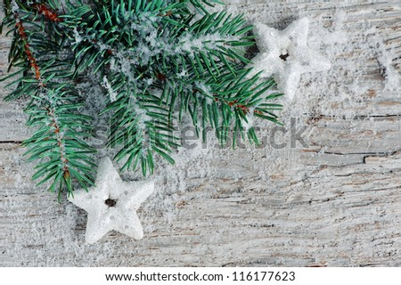 Christmas background with fir branch