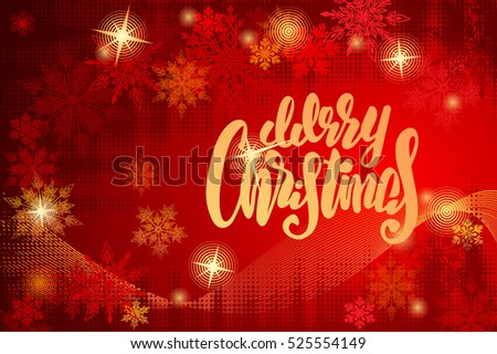 christmas background with lettering