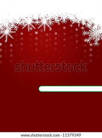 Christmas Background with Ornaments and Snowflakes