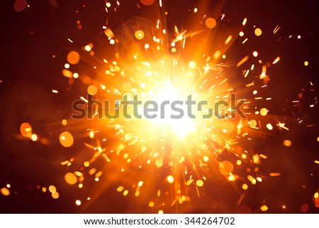 Christmas background with shiny sparkler light #344264702