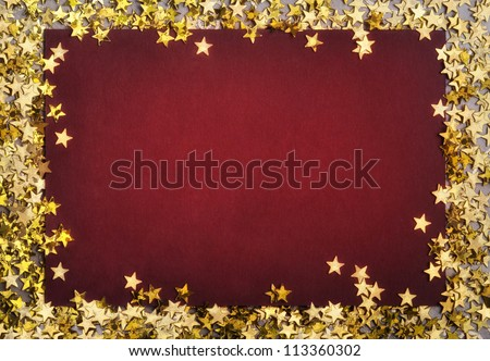 christmas background with star-shaped confetties