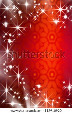 Christmas background with stars and copy space - stock photo