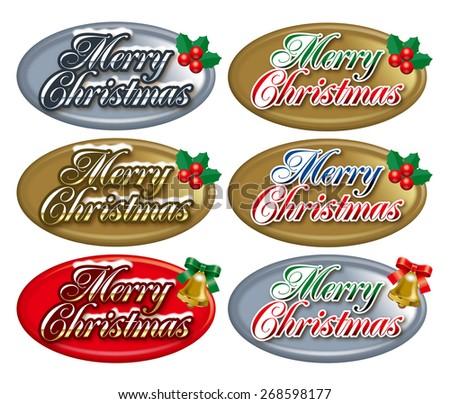 Christmas badge./Christmas goods.