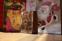 CHRISTMAS BAG GIFT CELEBRATION SANTACLAUS