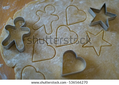 Christmas Bakery with Christmas Cookies Cutters #536566270