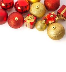 christmas ball and christmas gift background