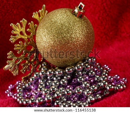 Christmas ball and decorations