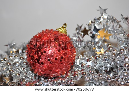 christmas ball, christmas red ball hand made