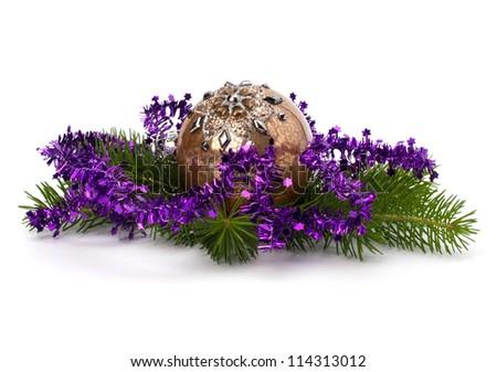 Christmas ball decoration isolated on white background #114313012