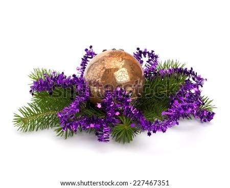 Christmas ball decoration isolated on white background #227467351