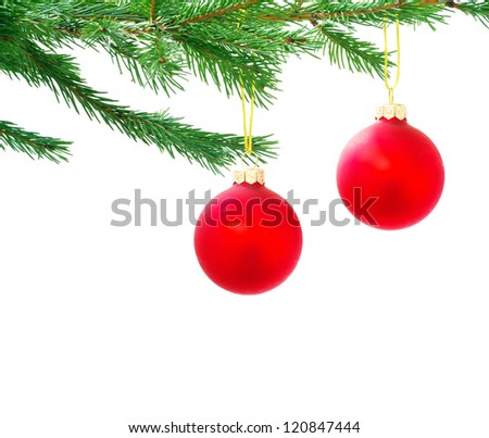 Christmas ball isolated on the white background