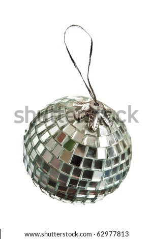 Christmas ball isolated on white.