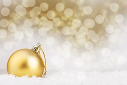 Christmas ball on abstract background