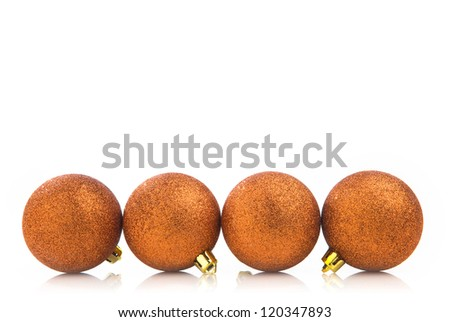 Christmas ball on white background - stock photo