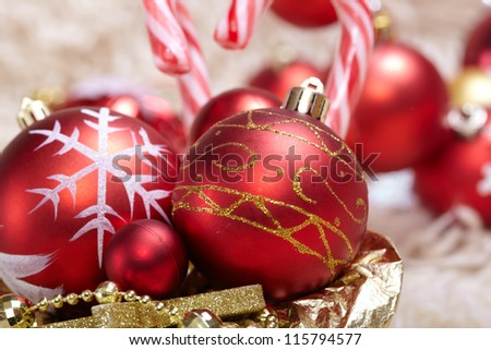 Christmas balls - stock photo